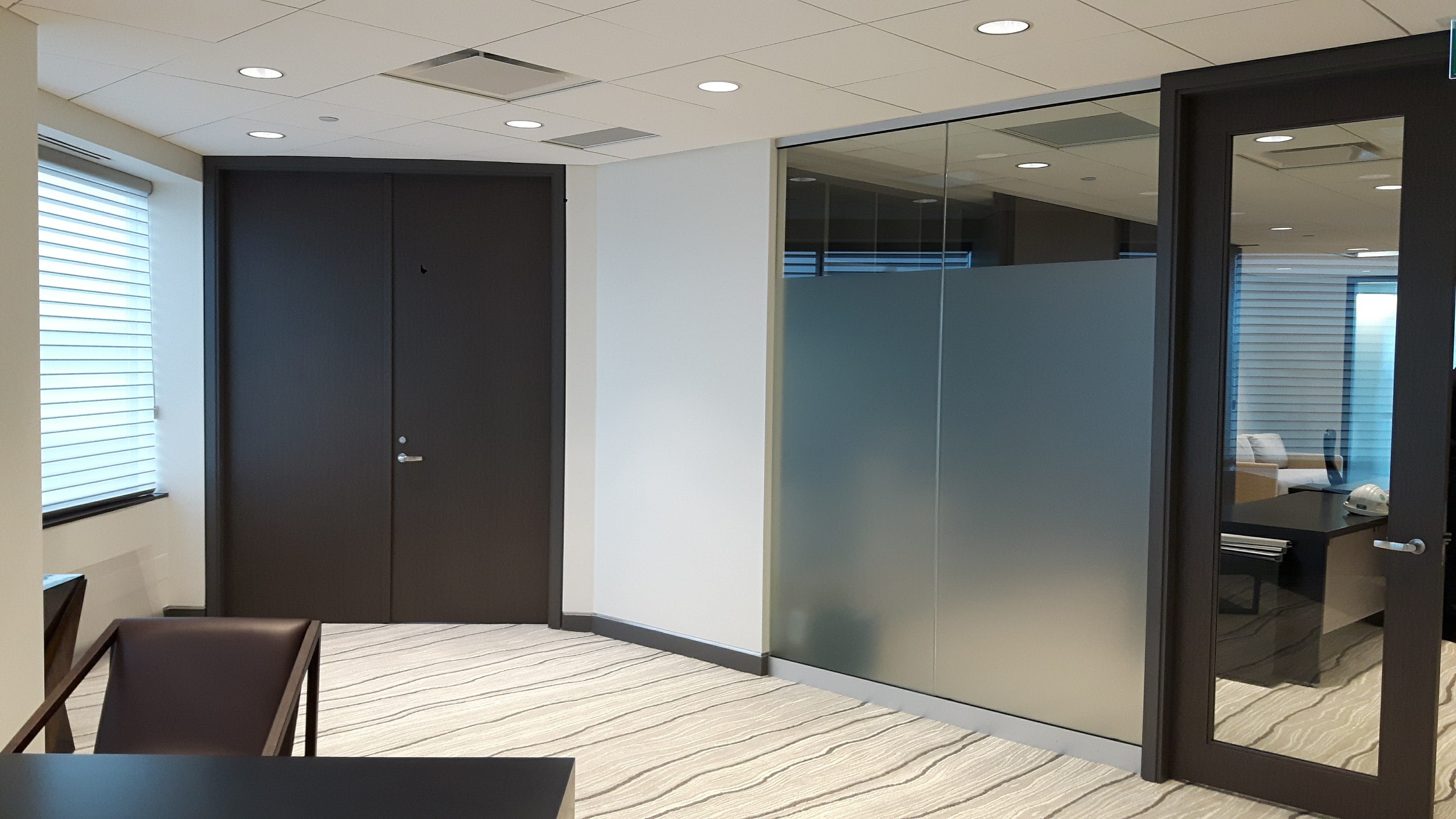 Glass office doors interior - Project Focus Ceo Office And Suite Renovation Greater Toronto